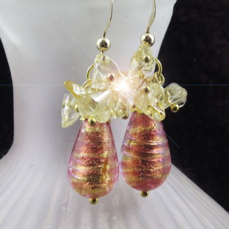 boucles-d-oreilles-murano-or-rose