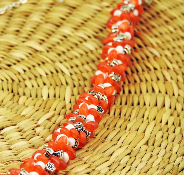 Collier-Jour-d'été-orange-plumesbijoux-01