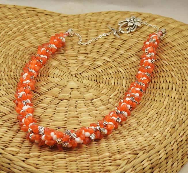 Collier-Jour-d'été-orange-plumesbijoux-03